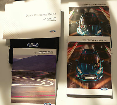 Ford Fiesta Owners Manual,Blank Service Book 2012-2016