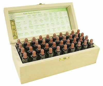 set completo de 10ml Bach Flower Remedies en una madera Box