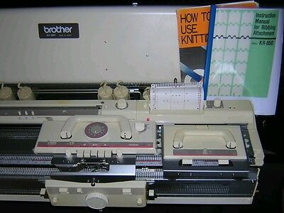 Brother knitting machine punchcard KH 891 with KR 850 ribber complete