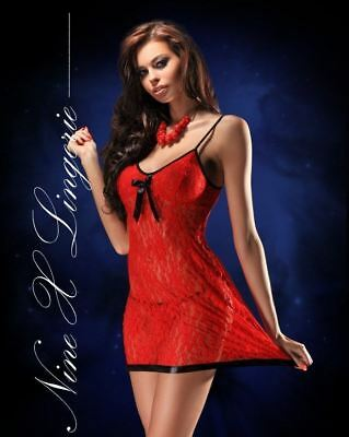 Nine X Ladies Red Lace Babydoll Dress Plus Size Lingerie M-8XL Nightie