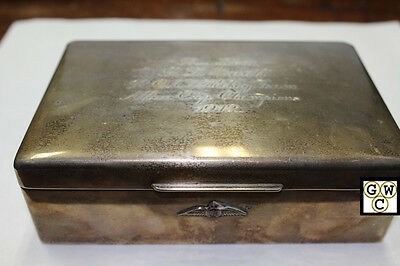 1942 G.J.Snell  R.C.A.F Hockey Team Allan Cup Championship birks box & compact