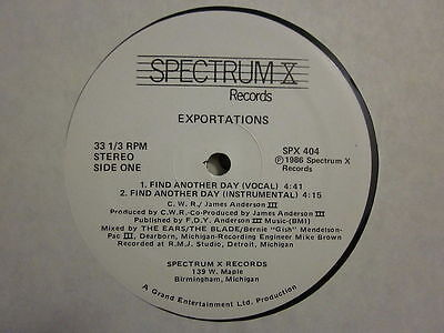 """Soul Modern 80's 12""""-Exportations-Find Another Day-US Spectrum X records issue"""