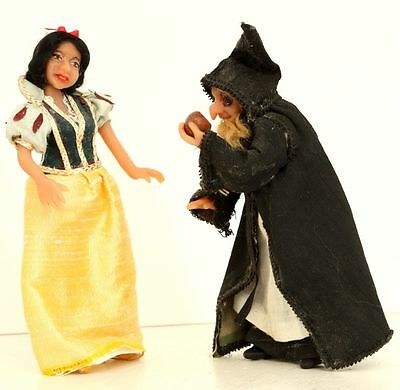 Snow White and Witch OOAK Miniature Dolls Polymer Clay Disney by Nicky CC