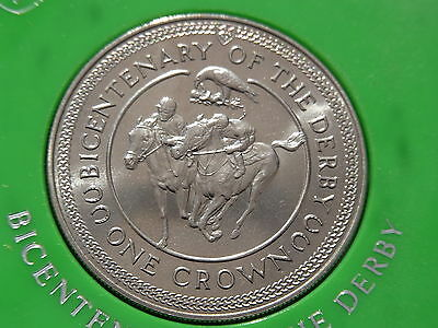 1980 Isle Of Man Bicentenary Of The Derby Crown Cased And Uncirculated