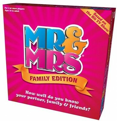Fun Mr And Mrs Family Edition Funny Card Game Kids Couples Children Friends