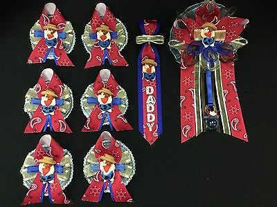 Mommy,Daddy, & Guest Corsage Set, Cowboy, Western Country, Baby Shower