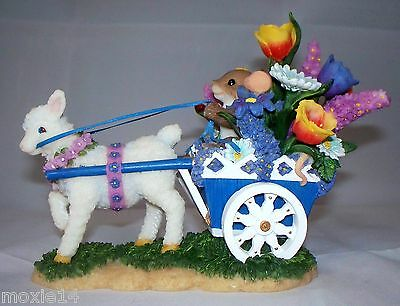 """Large Charming Tails """"YOU ARE FULL OF BEAUTY & STYLE"""" Cart Lamb Mouse Flowers"""