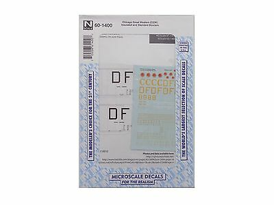 N Chicago Great Western Insulated & Standard Boxcar Decals - Microscale #60-1400