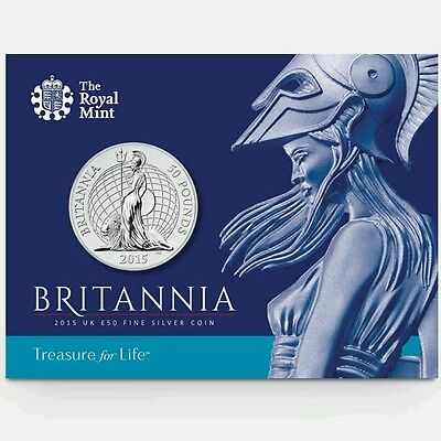 Royal Mint Britannia 2015 UK £50 Fine Silver Coin