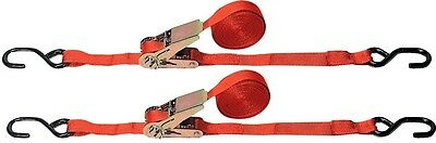 StanSport Roof Rack & Cargo Tie-Down Ratchet Straps, red in color .. New
