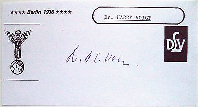 HARRY VOIGHT 1936 OLYMPIC 4 x 400m RELAY BRONZE MEDAL WINNER INK AUTOGRAPH