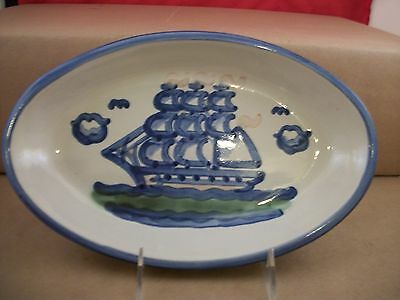 """M.A. Hadley Louisville Clipper 11"""" x 7"""" x 1.5"""" Serving Plate - Signed"""