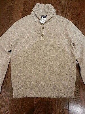 J. Crew 100% Lambswool Cowl Neck Sweater, Size M