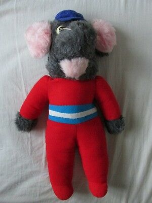 """Retro Roland Rat soft toy from 1980's approx. 15"""" tall"""