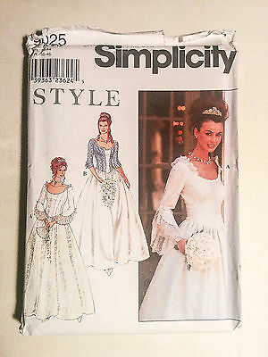 9025 Simplicity bridal wedding dress princess lady - SZ 8 - 18 sewing pattern