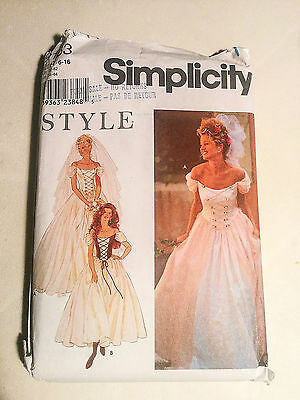 9163 Simplicity wedding renaissance princess dress - SZ 6 - 16 sewing pattern