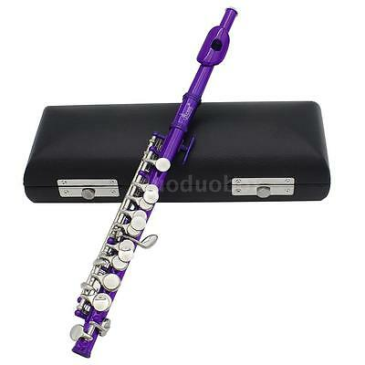 Piccolo Ottavino Half-size Flute Plated C Key Cupronickel with Padded Box M8C4