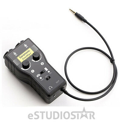 Saramonic SmartRig+ Two XLR I/Ps & Two 3.5mm I/Ps Audio Adapter for Cameras NEW