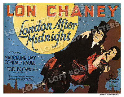 London After Midnight Lobby Title Card Poster 1927 Lon Chaney