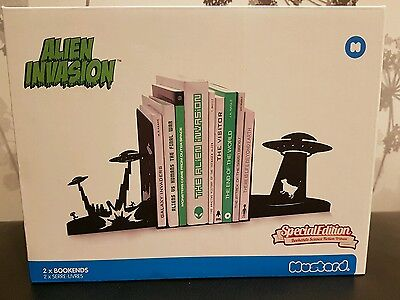 Pair Of Alien Invasion Bookends Book Ends From Mustard For Books CD's DVD's