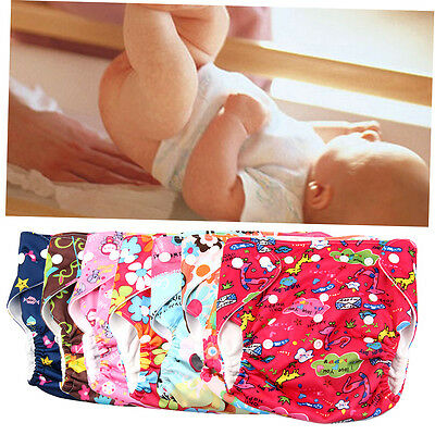 Reusable Waterproof Breathable Baby Nappy Cloth Diaper Cover Double Gussets ZX