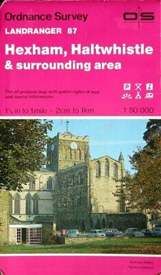 Landranger Maps: Hexham, Haltwhistle and... by Ordnance Survey Sheet map, folded
