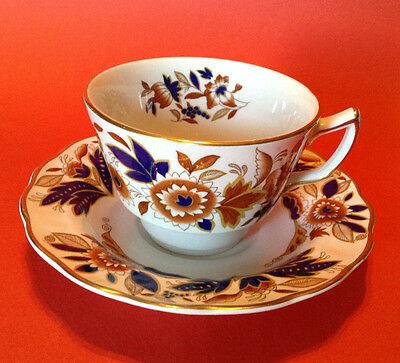 Booths Dovedale Tea Cup And Saucer - Cobalt Blue And Brown - 5 Available