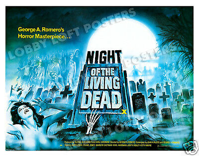 Night Of The Living Dead Lobby Card Poster Bq 1968 George Romero Zombie Classic