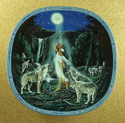 Visions of the Sacred THE GATHERING Plate #10 Native American Indian Wolf Wolves