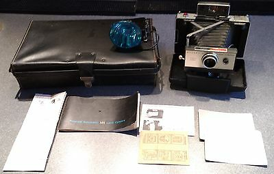 Vintage Polaroid Land Camera 101 Automatic with Case, Flash & Accessories