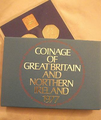 1977 Proof Set of Coins. Ideal 40th BIRTHDAY or ANNIVERSARY Gift