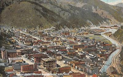 "WALLACE, ID ""Richest Town of its Size"" Idaho Mining Vintage Postcard ca 1910s"