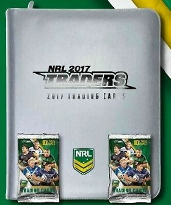 *PRE-SELL* 2017 NRL ESP Traders album,2 packets,18 pages & common set of cards