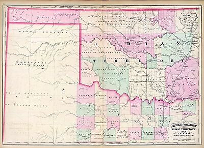 76 maps OKLAHOMA state PANORAMIC old genealogy lots HISTORY teaching atlas DVD