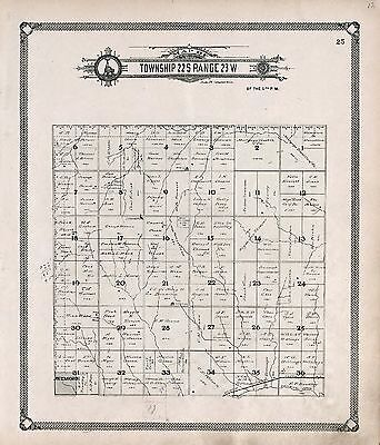 HODGEMAN COUNTY KANSAS plat maps old GENEALOGY 1907 Atlas LAND OWNERS DVD P123