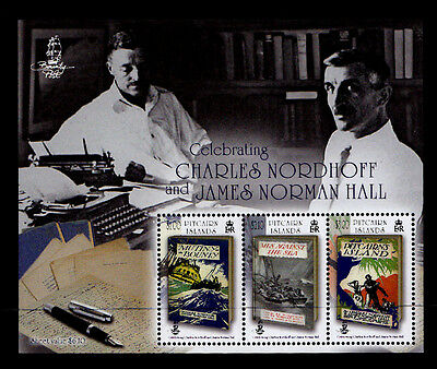 PITCAIRN ISLANDS  - 2013 Bounty Trilogy Authors Nordhoff & Hall - MNH