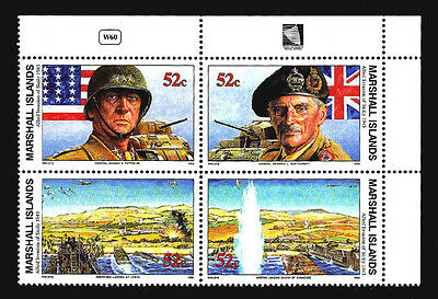 MARSHALL ISLANDS - Scott 470a - WWII W60 - Invasion of Sicily w/Selvage MNH