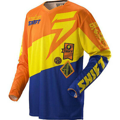 Shift MX Faction Jersey SLATE BLUE ORANGE 2014 motocross offroad trail enduro