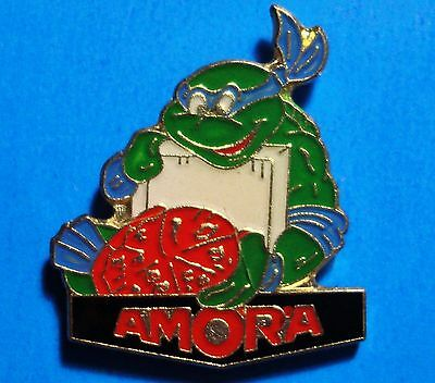 Teenage Mutant Ninja Turtles - Leonardo - Pizza - Amora - Vintage Lapel Pin