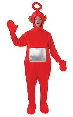 Teletubbies PO Red  Adult TV Dress Up Women Men Costume STD