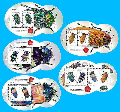 Australia Stamp, 2016 AUS1636S China 2016 Show - Set Insects