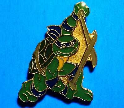 Teenage Mutant Ninja Turtles - Leonardo -  Vintage Lapel Pin - Pinback - # J