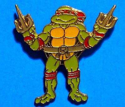 Teenage Mutant Ninja Turtles - Raphael - Rare Light Green - Vintage Lapel Pin