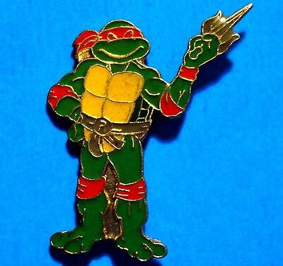 Teenage Mutant Ninja Turtles - Raphael - Vintage 1989 Mirage Lapel Pin - # F