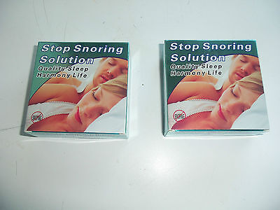 2 x NHS ANTI STOP SNORING SOLUTION MOUTHPIECE DEVICE