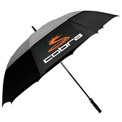 Cobra Golf 2017 Automatic One-Touch Double Canopy Umbrella - Black/Grey