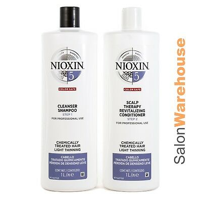Nioxin 2017 System 5 Cleanser 1L (Litre) & Scalp Revitaliser 1L1000ml SET