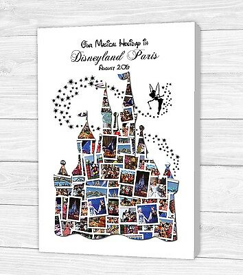 Personalised Disney Castle Photo Collage Canvas, Print or Digital Copy