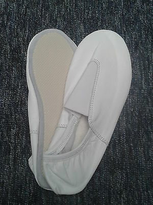 Top Quality Trampoline / Gymnastics Shoes - Soft White Leather