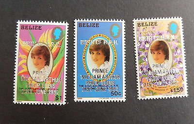 Belize 1982 Royal Baby Birth Prince William SG707/9 MNH UM unmounted mint
